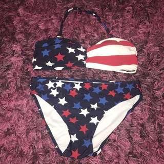 TARGET star printed bikini