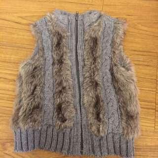 ZARA✨毛線鋪棉超保暖背心
