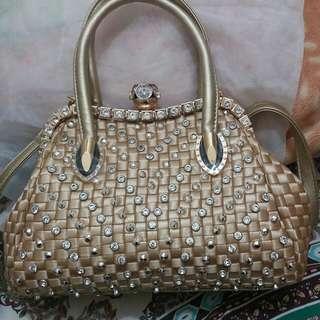 100%New Golden Handbag