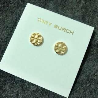 Tory Burch Stud Earrings Round Golden 金色圓形耳環