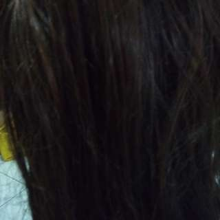 Wig pirang panjang