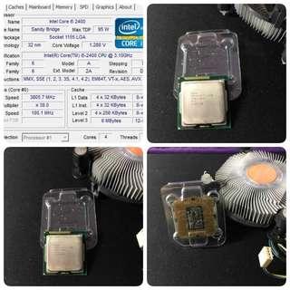 Intel I5 2400 cpu 附風扇(正式版/四核心 LGA1155 3.1G) AMD i3 i7 i9可參考