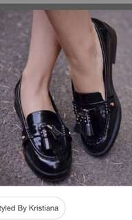 Loafers with tassel zara 37