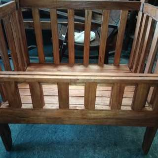 Crib (Gemelina wood)free mattress uratex