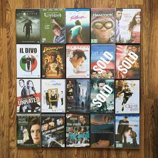Assorted DVDs for sale (Part 1)