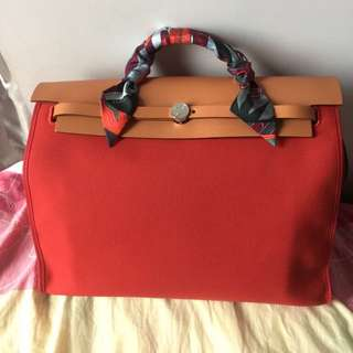"Hermes herbag 39"" with twilly"