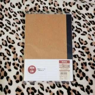 無印良品 再造紙橫間筆記簿 B5 x 4