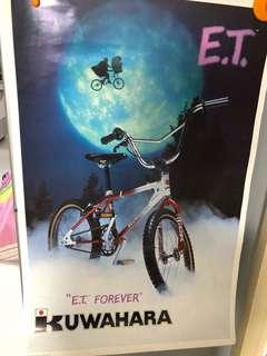 1982 kuwahara E.T. Bmx poster