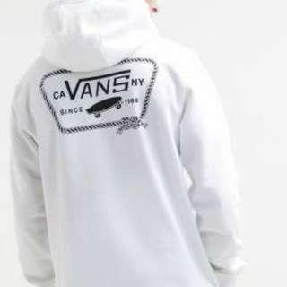 Vans white hoodie