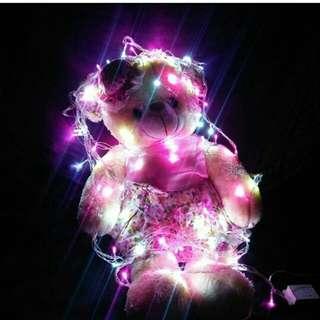 Lampu Tumblr /lampu natal Pink White