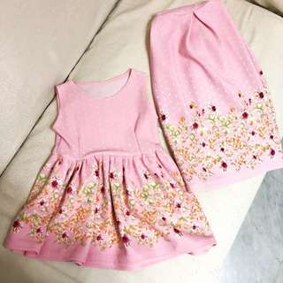 Matchy mother daughter pink dress