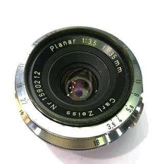 蔡司 Carl Zeiss Planar 35mm f/3.5 RF Mount