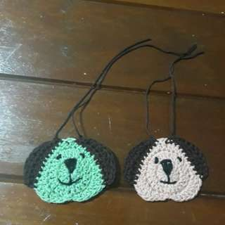 Dog crochet ornament