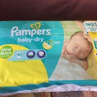 Newborn Pampers Baby Dry