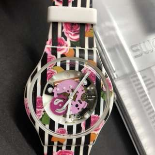 Swatch Floral design wrist watch for women