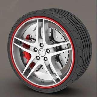 Car-Styling Wheel Hub Rim Protection Sticker