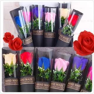 華麗系列 香皂玫瑰花 各色單支