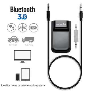 Docooler Bluetooth Receiver Hands-free Car Kits 3.5mm Stereo Bluetooth Music Receiver for Audio Streaming Home/Car Audio System