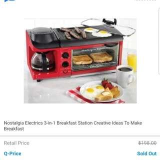 Nostalgia Electrics 3in1 Breakfast Maker