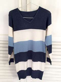 Sweater stripe dress