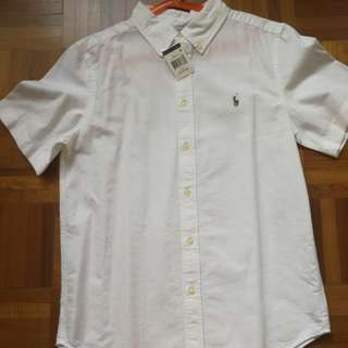 Ralph Lauren Shirt White - Boys 14-16yrs
