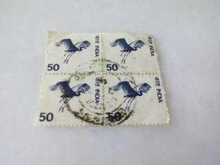 India Stamps Block of 4 #M97
