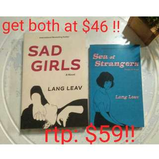 LANG LEAV - SAD GIRLS & SEA OF STRANGERS