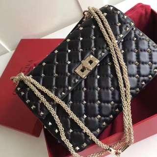Valentino black rockspike bag
