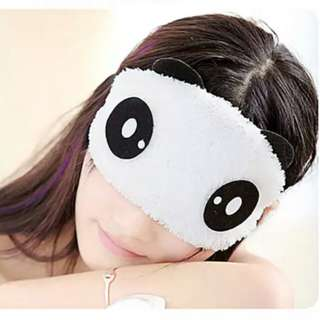 BN Cute Panda Furry BlindFold with Cooler Pad