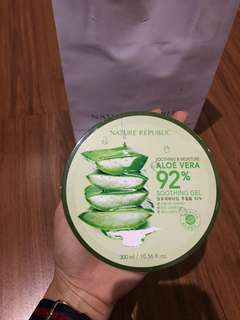 Nature Republic Aloe Vera Mask!