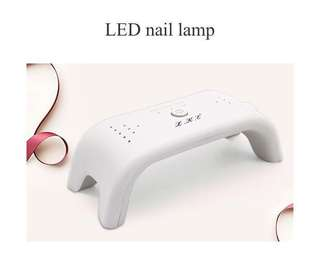 LKE 12w Mini Nail Dryer Curing  UV Lamp 3 timing with 405nm 365nm White LED Can Cure Nail Gel Builders LED Gels Nail Art Too
