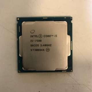 Intel i5-7500 3.4G 四核心 處理器 i5 6400 6500 7500 7600 1151主機板皆可用