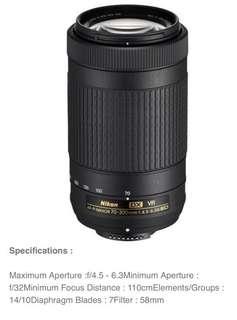 Nikon AF-P 70-300mm