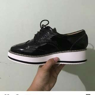 Korean Brand Heeled Oxford