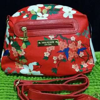 Kate Spade red floral sling