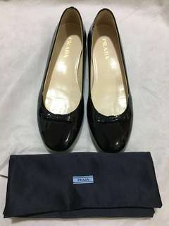 Prada leather ballerina flats
