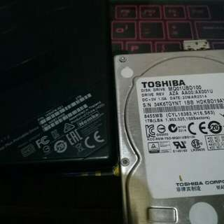 External Hard Drive 1tb 1.8k and 2tb 3.3k
