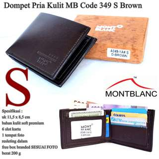Dompet Kulit Pria Monblank code 349 brown