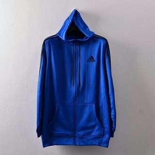 Jaket Hoodie Adidas Essential 3S Climacool Zip Hoodblue