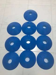 Blue disc cone/markers