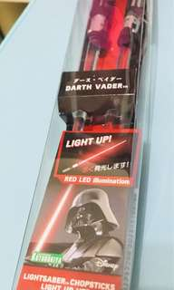星戰必搶著燈筷子Star Wars Darth Vader Lightsaber Chopsticks Light Up Ver. RED LED illumination