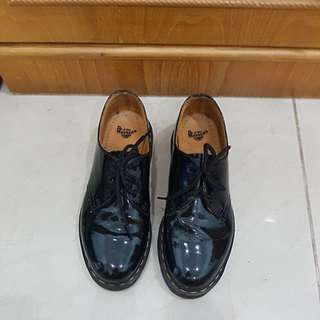 Dr Martens Black Patent Shoes