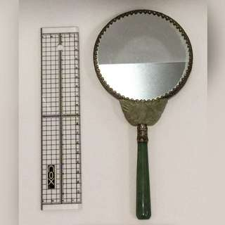 仕女鏡(玉石柄)