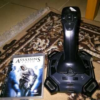 Kaset BD PS 3 dan Joystick logitech atk3