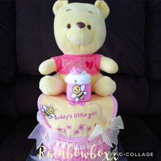 Baby Diaper Cakes made with love