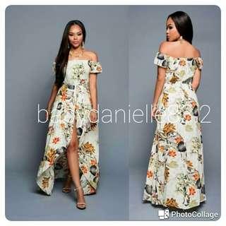 🌸Maxi off shoulder  dress