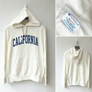 [NEW ARRIVAL] CHAMPION Mens California White Hoodie Original