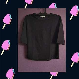 Black 3/4 Sleeves Top