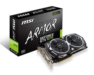 MSI GeForce GTX 1070 Armor 8GB OC Graphic Card