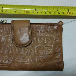 Fossil original genuine leather wallet
